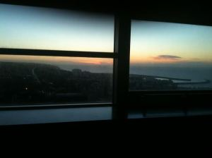 I watched the sun rise on the 29th. Room with a great view.