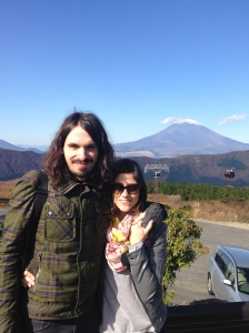 the view of Fuji from Owakudani station