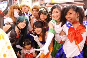 one group of Sailor Scouts were men, another were women.