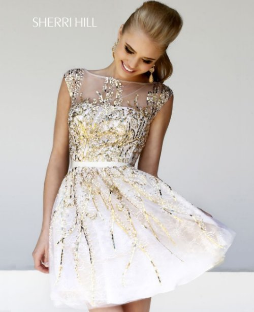 My wedding dress search d evolved into looking at prom for Sherri hill short wedding dress