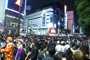 this = NOT THAT CROWDED in Shibuya on Halloween